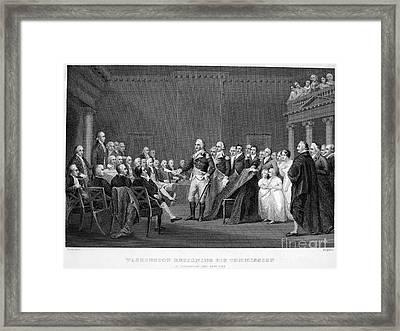 Washington: Resignation Framed Print