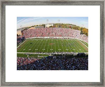 Washington State Martin Stadium  Framed Print by Washington State University - Marketing and Communications