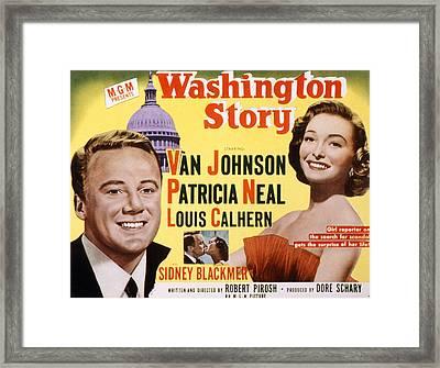Washington Story, Van Johnson, Patricia Framed Print by Everett