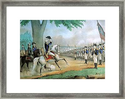 Washington Taking Command Of American Framed Print