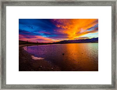 Washoe Lake Nevada Sunset Framed Print by Scott McGuire