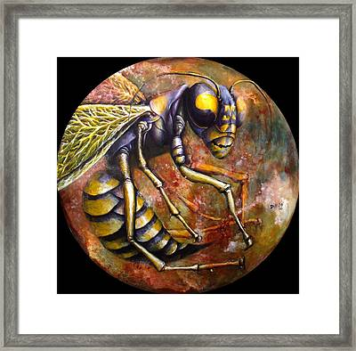 Wasp Framed Print by Rust Dill