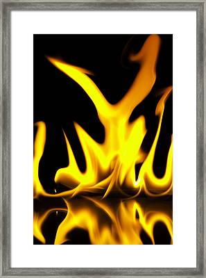 Waster And Fire Framed Print