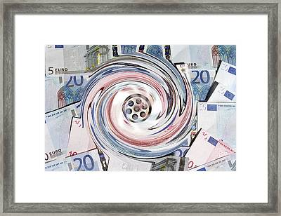 Wasting Money, Conceptual Image Framed Print by Victor De Schwanberg