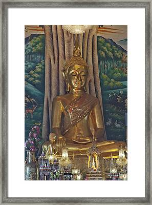 Wat Kaewjamfa Ubosot Principal Buddha Dthb1072 Framed Print