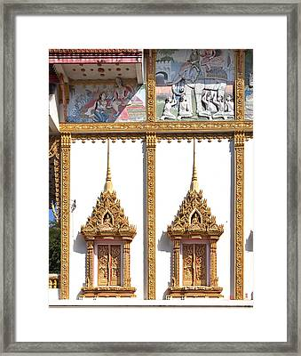 Wat Kan Luang Ubosot Windows Dthu189 Framed Print by Gerry Gantt