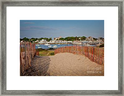 Watch Hill Harbor Framed Print by Susan Cole Kelly