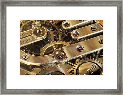 Watch Interior Framed Print