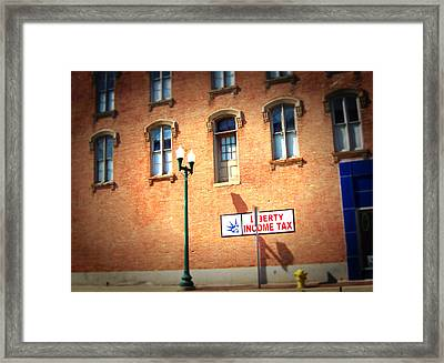 Framed Print featuring the photograph Watch Your Step by MJ Olsen