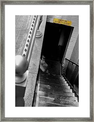 Watch Your Step Framed Print by Steven Milner