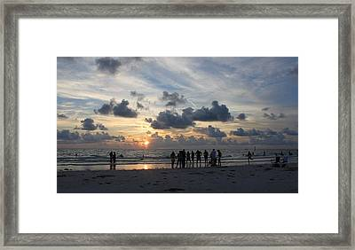 Watchers At Sunset Framed Print