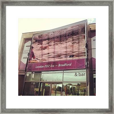 Watching #london2012 In #bradford - Na Framed Print