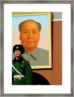 Watching Over Mao Framed Print by Anthony Silver