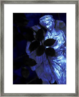 Watching Over Me In Darkness Framed Print by Angelina Vick