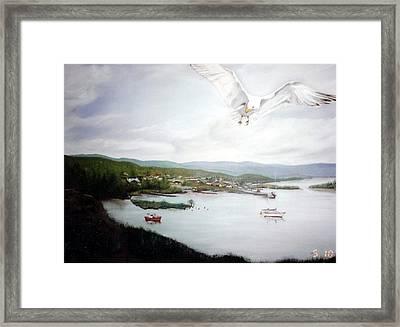 Watching Over  Rossport Framed Print by Joyce Reid