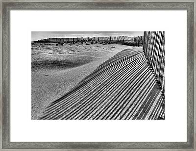 Watching Shadows Bw Framed Print by JC Findley