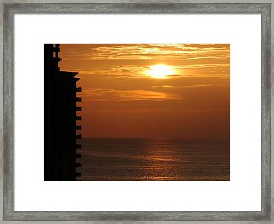 Watching The Sunset Framed Print by Coby Cooper