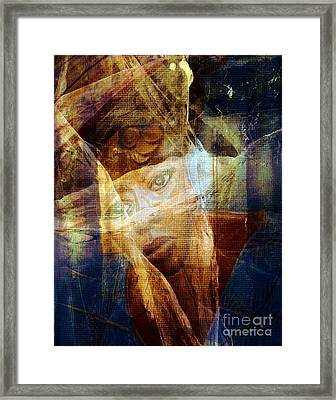 Watching The Violence Framed Print by Fania Simon