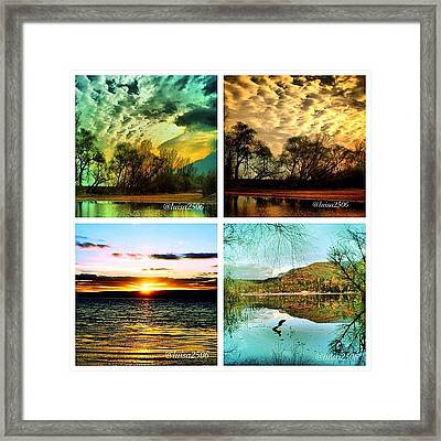 Water And Clouds Framed Print