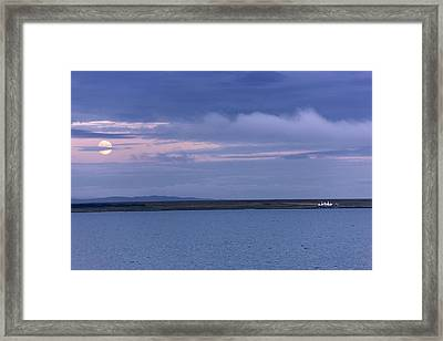 Water And Dark Clouds Framed Print by John Short