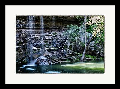 Water Bodies Of Texas Framed Prints