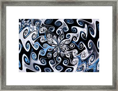 Water And Oil Framed Print by Tashia Peterman