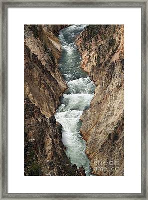 Framed Print featuring the photograph Water And Rock by Living Color Photography Lorraine Lynch