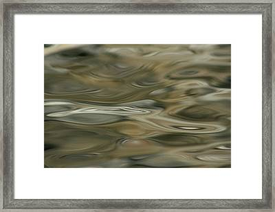 Framed Print featuring the photograph Water And Rocks  by Cathie Douglas