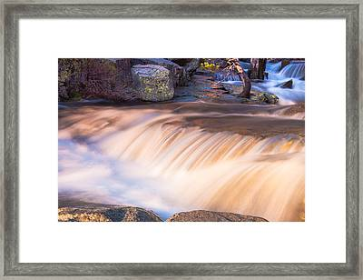 Water And Rocks Framed Print by Marc Crumpler