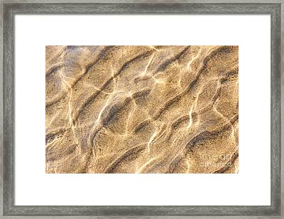 Water And Sand Ripples Framed Print by Elena Elisseeva