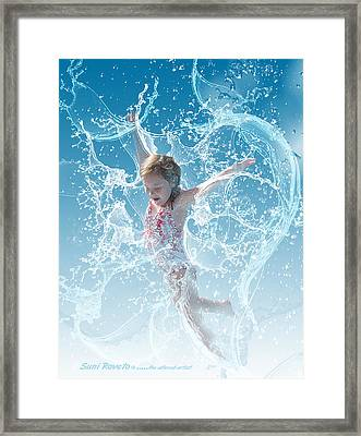 Water Baby Framed Print