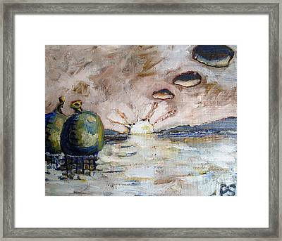 Water Balloons At Sunset Framed Print by Charlie Spear