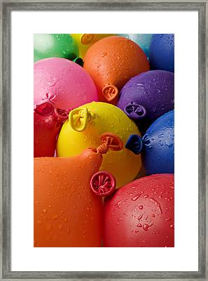 Water Balloons Framed Print by Garry Gay