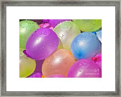 Water Balloons Framed Print by Patrick M Lynch