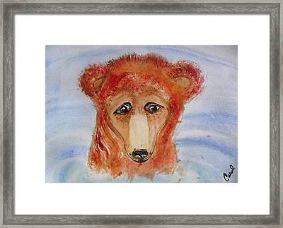 Framed Print featuring the painting Water Bear by Carol Duarte