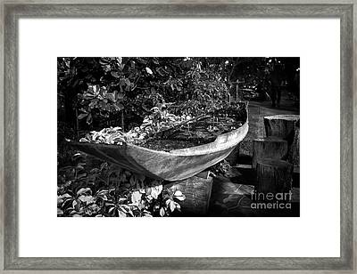 Framed Print featuring the photograph Water Canoe by Thanh Tran