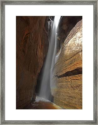 Water Canyon Framed Print