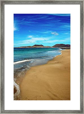 Water Caresses Sand Framed Print by Andreas Weibel - www.imediafoto.com