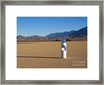 Water Cooler In Desert Framed Print by David Buffington