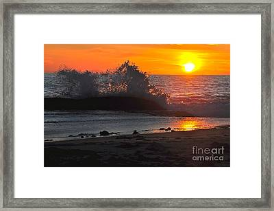 Framed Print featuring the photograph Water Crystals by Johanne Peale