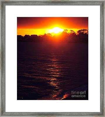 Framed Print featuring the photograph Water Dance by Cindy Lee Longhini