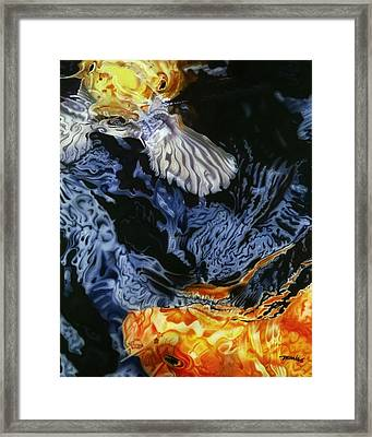 Framed Print featuring the painting Water Dance by Dan Menta