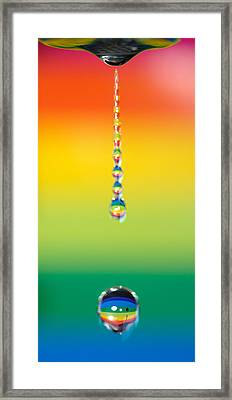 Water Dripping Framed Print