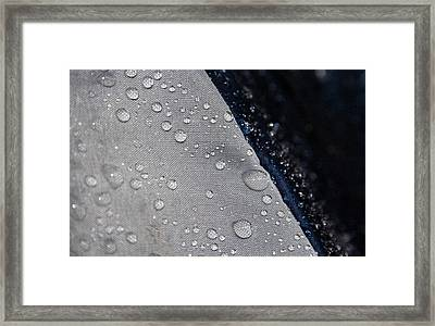Framed Print featuring the photograph Water Droplets by Ester  Rogers
