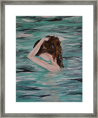 Water Envy Framed Print by Leslie Allen