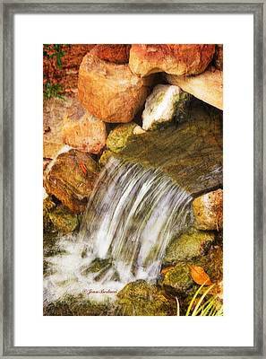 Framed Print featuring the photograph Water Fall by Joan Bertucci
