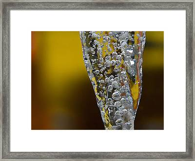 Water Faucet Fall Framed Print