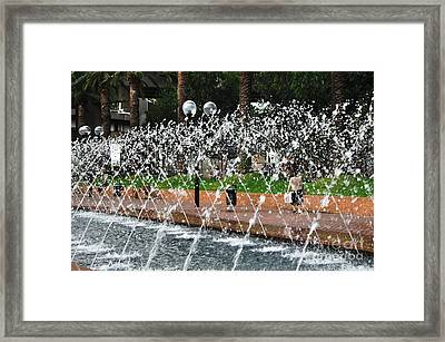Water Feature Framed Print by Kaye Menner