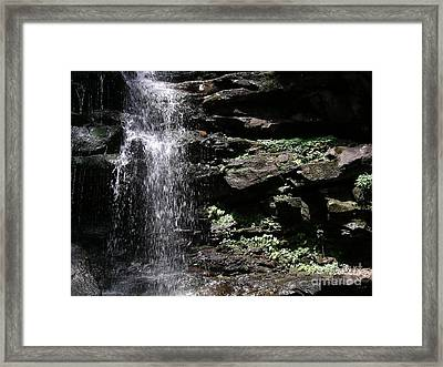 Water Figure Waterfall Framed Print