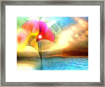 Water Floral Framed Print by George  Page